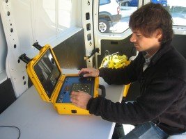 ROV deployment in mobile control station